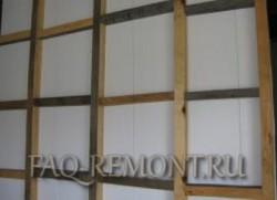 деревянный каркас для панелей