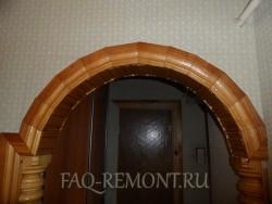 венец арки из дерева