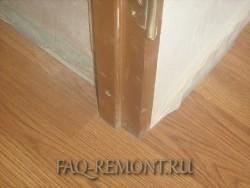 минимальный шов на стыке ламината с дверной коробкой