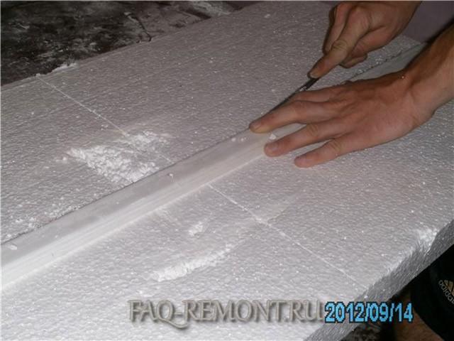 Чем и как резать пенопласт в домашних условиях