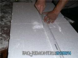 режем заготовки для будующей колонны